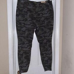Camo stretch skinny jeans
